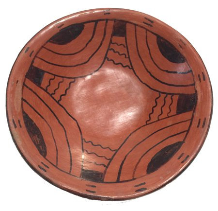 Native American Pottery, Vintage Maricopa Pottery Dish, ca 1950's #496