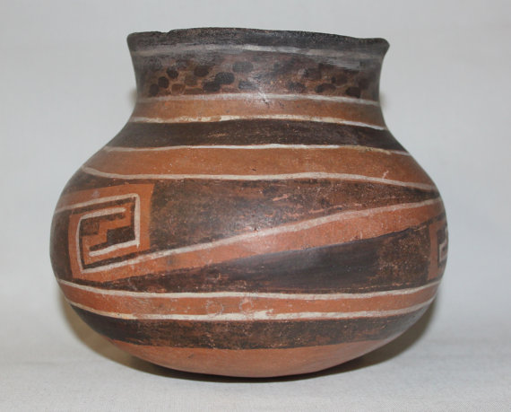 Antique Pottery : Prehistoric Native American Anasazi-Four Mile Jar CA 800-1200 AD #434