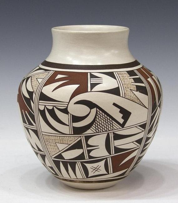 Hopi Pottery : Beautiful Native American Hopi Pottery Bowl, by J. Navasie #232