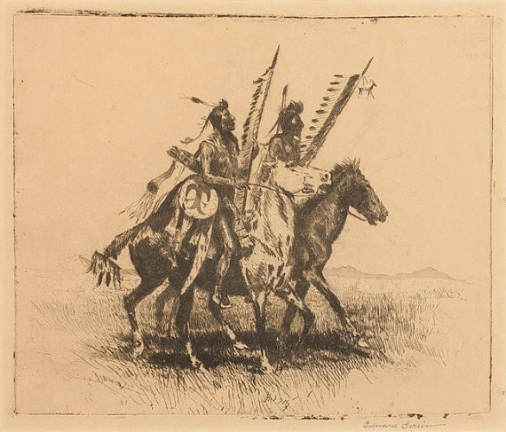 Art : Edward Borein, Cowboy Artist, Western Artist,