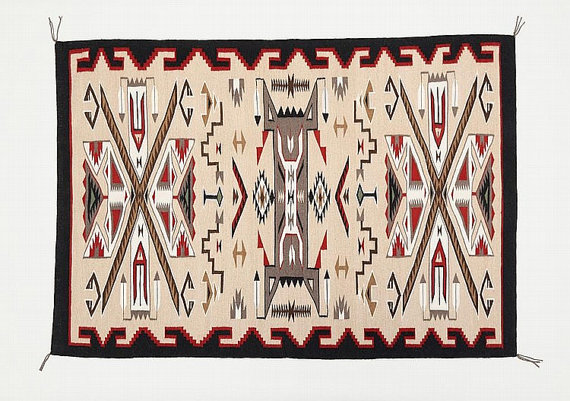 Hand Woven Rug : Native American Navajo Large Finely Woven Teec Nos Pas Rug by Betty Bahe #227