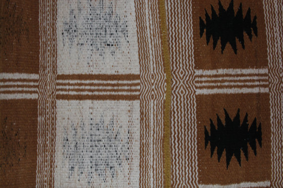 Navajo Rug : Rare 1970's Two Faced Navajo Rug #255