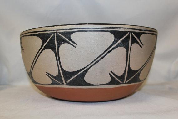 Santa Domingo : Outstanding Santa Domingo Dough Bowl by Alvina Garcia #257