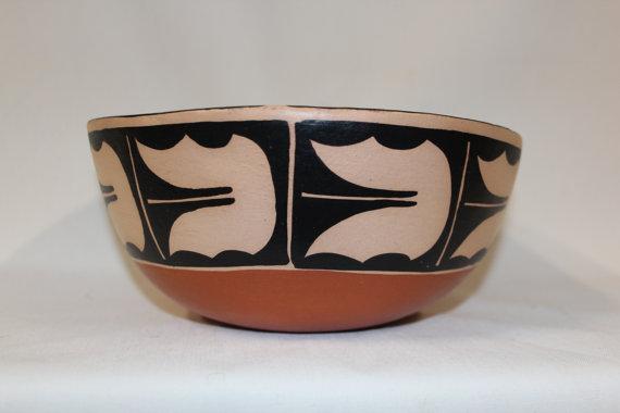 Southwest Pottery : Native American Santo Domingo Pottery Bowl, by AMTL ( Anna Marie Lovato) #140