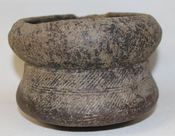 Black Pottery : Historic Black Pottery Pot from the Ayuthaya Ruins Outside of Bangkok, Thailand #422