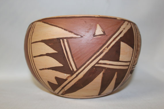 Hopi Bowl : Native American Hopi Pottery Bowl, by Katherine Collateta #70
