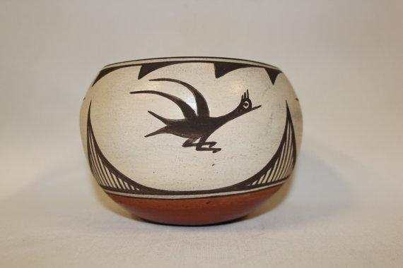 Native Pottery : Native American Zia Pottery Bowl #109