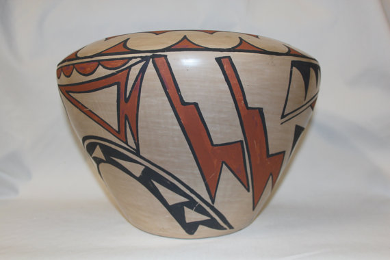 Pottery Jar : Native American San Ildelfonso Pottery Jar, signed by Carlos Sunrise Dunlap #110