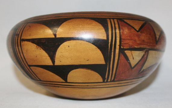 Hopi : Beautiful Historic Hopi Pottery Bowl #460
