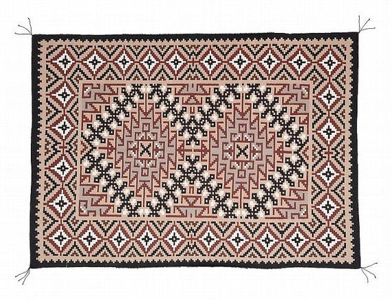 Navajo Rug : Beautiful Navajo Teec Nos Pas Rug by Helena Dean #226