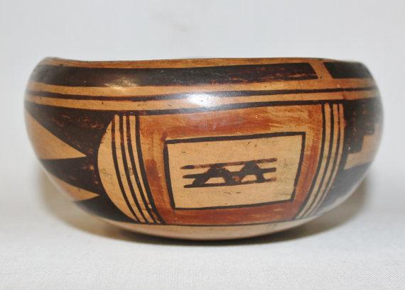 Hopi Pottery : Historic Hopi Pottery Bowl Medium Size #461