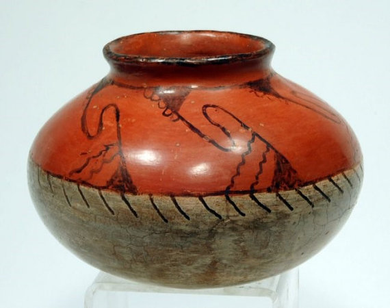 Pottery Bowl : Excellent Native American Maricopa Bowl #214