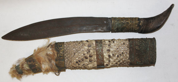 Vintage Knife : Vintage Chin Knife from Bagan, Myanmar #451