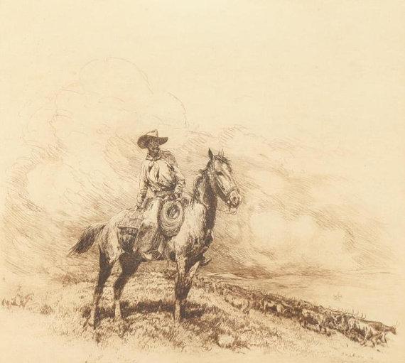 Western Artist, Edward Borein (American, 1872-1945),