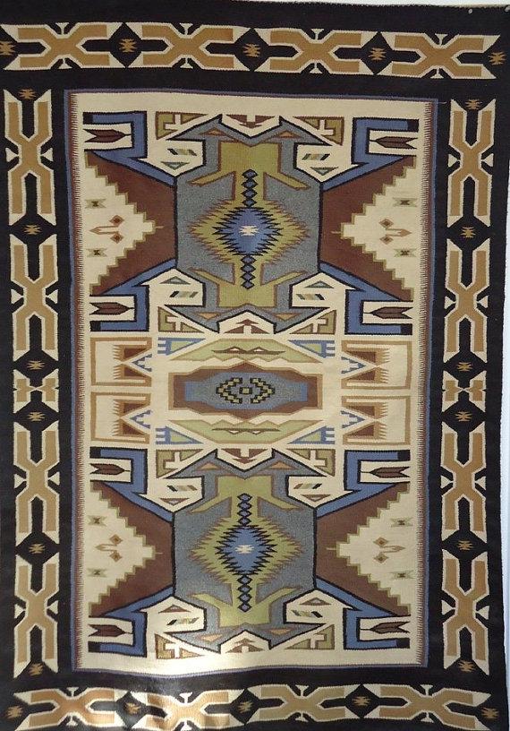 Native American Tees Nos Pos Navajo Rug, Classic Revival Period, Circa 1940-60, #842