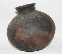 Antique Pottery : Large Historic Pottery Pot from Yangon, Myanmar #450