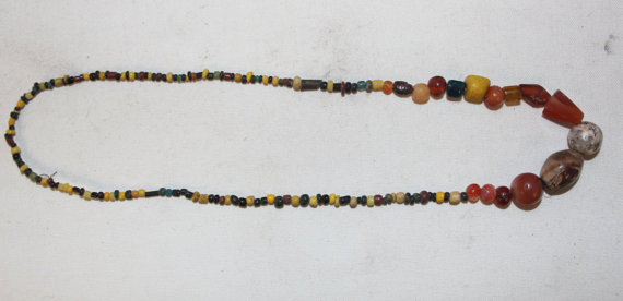 Rare Beads : Rare String of Historic Assorted Beads from Bagan, Myanmar #449