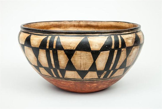 Native American Very Large Santo Domingo Pottery Bowl, Ca 1930*s, #938