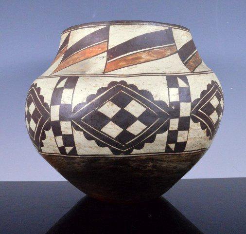 Native American Acoma, Acomita Design Polychrome Pottery Water Jar/Olla, #791