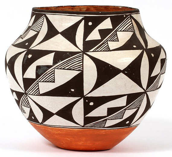 Acoma Pottery : Acoma Polychrome Olla #205