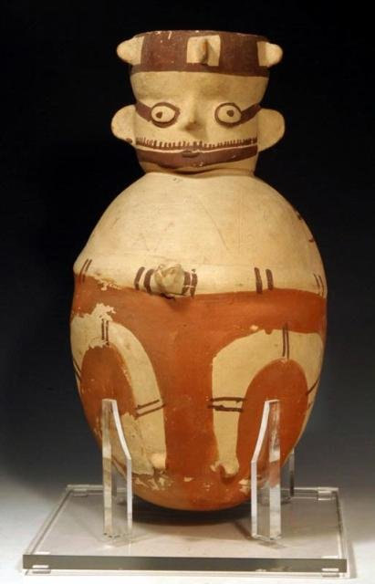 Pre-Columbian Very Large Chancay Pottery Amphora, Ca 800 to 1200 AD, #788