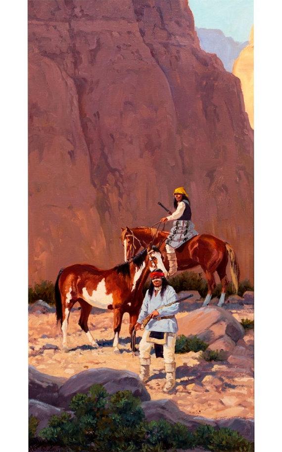 Painting : Ron Stewart Oil Painting, Original Ron Stewart Oil,
