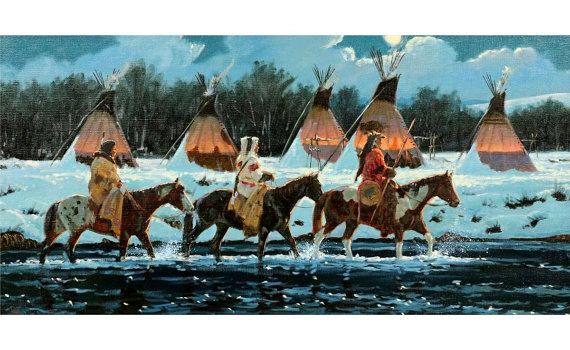 Indian Painting : Ron Stewart Oil Painting, Original Painting,