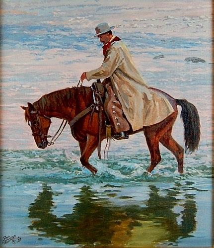Horse Painting : Ron Stewart Oil Painting, Original Ron Stewart Oil,