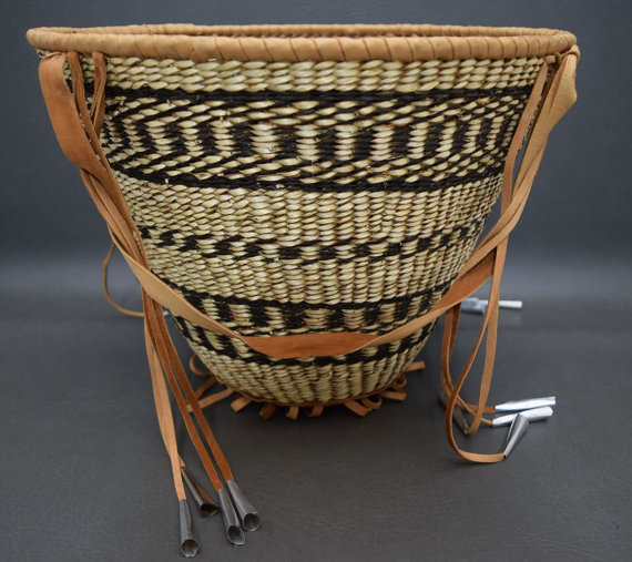 Native American Basket, Apache Burden Basket, Ca 1970's, #902