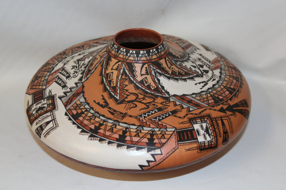 Navajo Pottery : Exquisite Native American Navajo Pottery Jar, by the McKelvey Sisters #63