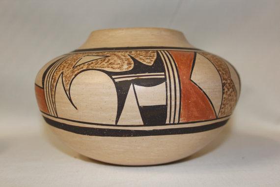 Pottery : Very Good Native American Hopi Pottery Jar by Stella Huma #58