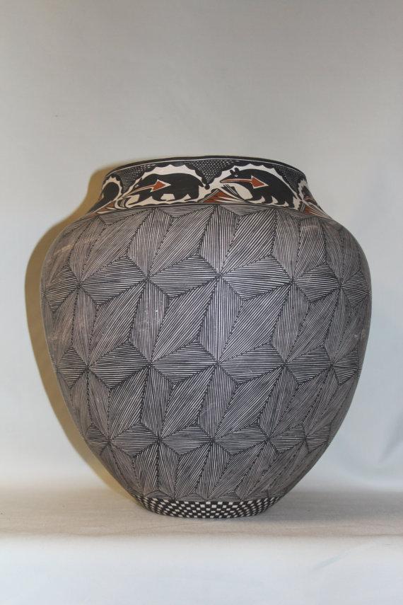 Pottery Jar : Native American Acoma Pottery Jar, by Melissa Antonio #64
