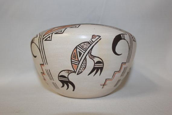 Hopi Pottery Jar : Native American Hopi Pottery Jar by Claudina Lomakema #74