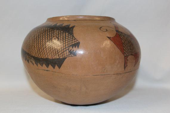 Native Pottery : Very Unique Native American Pottery Olla #35
