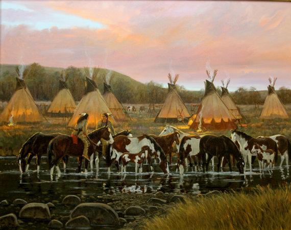 Western Artist, Ron Stewart Oil Painting,