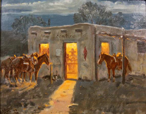 Original Oil Painting : Ron Stewart Oil Painting, Original Ron Stewart Oil,