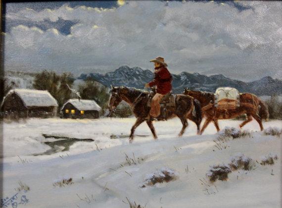 Original Art : Ron Stewart Oil Painting, Ron Stewart Oil,