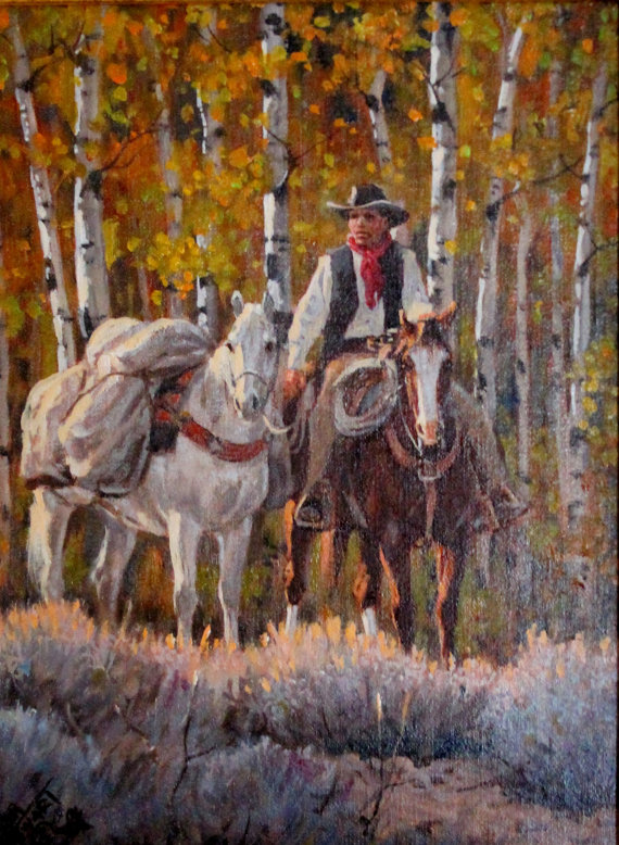 Original Painting : Ron Stewart Oil Painting,