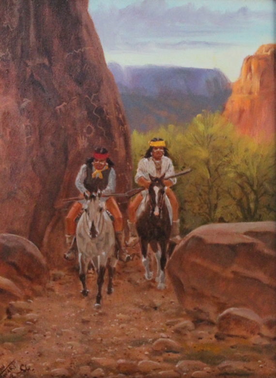 Western Painting : Ron Stewart Oil Painting, Ron Stewart Oil,