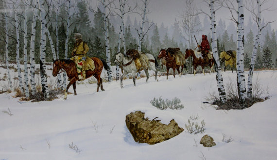 Western Artist, Ron Stewart, Water Color Painting,