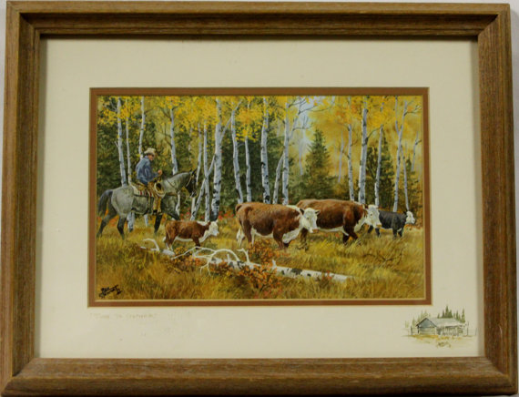 Western Artist, Ron Stewart, Water Color Painting, Entitled