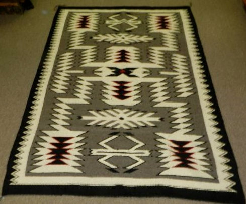 Native American Navajo Large Storm Pattern Rug/Weaving, #768