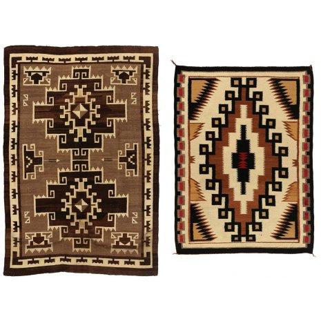 Navajo Rugs :Two Vintage Navajo Weavings #88 a&b.