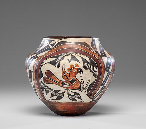 Acoma Pottery : Fantastic Historic Acoma Polychrome Olla #387