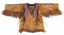 Lakota : Lakota Sioux Beaded War Shirt Circa 1950's #362