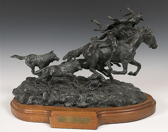 Fine Art :Rare, Original, Ron Stewart, Bronze Sculpture,