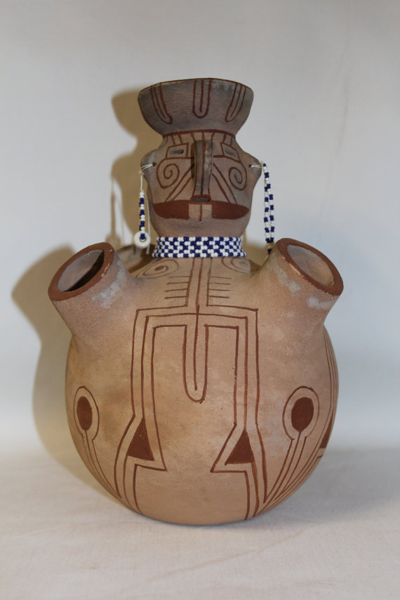 Native American Art : Outstanding Mojave Pottery Effigy, by Elmer Gates #135