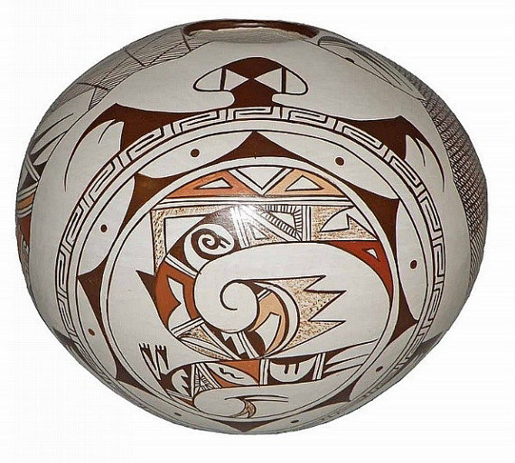 Southwest Pottery : Exquisit Hopi Seed Pot, by Feather Woman, Sylvia Naha #16