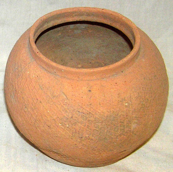 Terra Cotta : Two Fine Terra Cotta Dong Son Culture Jars from Northern Vietnam 400 BC to 100 BC #395