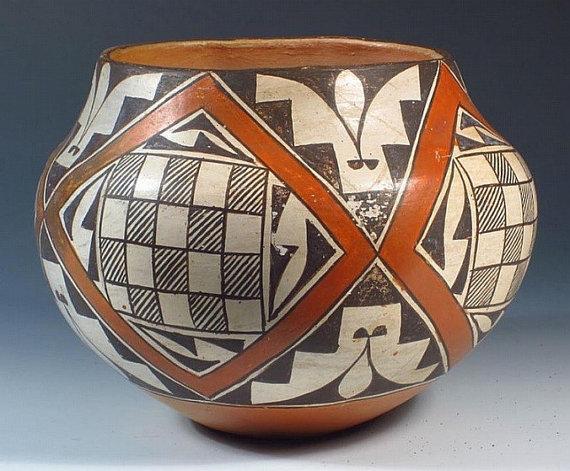 Vintage Pottery Jar : Vintage Acoma Polychrome Jar, by Andrea Lowden #49